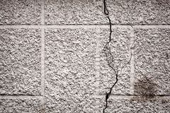 Crack on concrete wall Stock Image