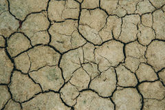 Crack dry clay sold background Royalty Free Stock Photos