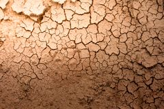 Crack of dry soil texture background Royalty Free Stock Photography