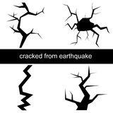 Crack from the earthquake Royalty Free Stock Photo