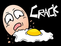 Crack egg Stock Images
