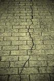 Crack on the floor tile Stock Photos