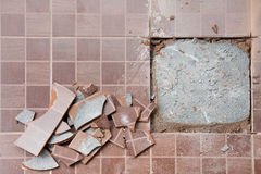 Crack on floor Royalty Free Stock Images