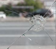 Crack in glass. Stock Images