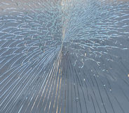 Crack in glass. Royalty Free Stock Photography