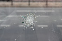 Crack in glass. Stock Image