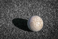 Crack golf ball Royalty Free Stock Photo