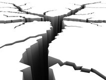 Crack ground. Breaking cleft earth ground concept Royalty Free Stock Photos