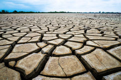 A crack ground in arid environment , Pattani, Thailand. Stock Photography