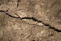 Crack in the ground Royalty Free Stock Photo