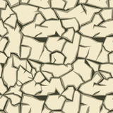 Crack ground seamless pattern. Vector Royalty Free Stock Image