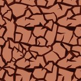 Crack ground seamless pattern Royalty Free Stock Photography