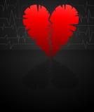 Crack heart Stock Photos