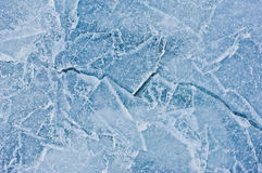 Crack in ice. Well lit crack in ice Royalty Free Stock Image