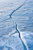 Crack in ice Stock Photography