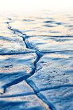 Crack in ice Royalty Free Stock Photos