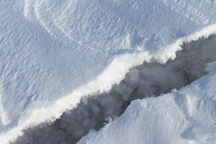 Crack on ice Stock Image