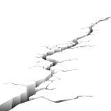 Crack. Illustration in vector on white background stock illustration