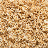Crack instant noodle Stock Image