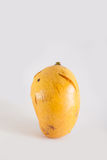 Crack mango. With white background Stock Photo