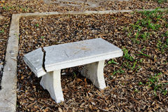 Crack marble seat Stock Photo