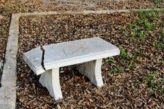Crack marble seat Stock Photo