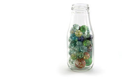 Crack Marbles in a jar Royalty Free Stock Photography