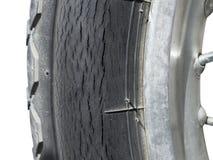 Crack mark on wheel Royalty Free Stock Image