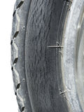 Crack mark on wheel Stock Image