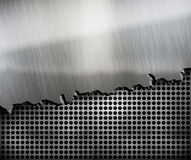 Crack metal background template Stock Images