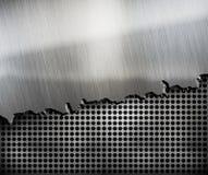 Crack metal background template stock illustration