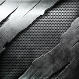 Crack metal background template Royalty Free Stock Images