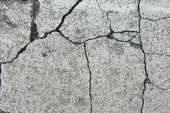 Crack. The crack and mottled cement wall Royalty Free Stock Photography
