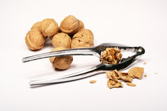 Crack nuts Royalty Free Stock Images