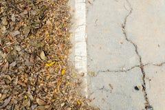 Crack old asphalt road Royalty Free Stock Photo