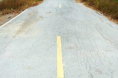 Crack old asphalt road Royalty Free Stock Image
