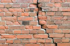 Crack in a old brick wall Stock Image