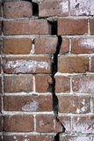 Crack in old brick wall Stock Photos