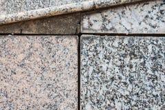 Crack of old granite floor. Royalty Free Stock Photos