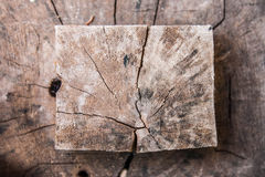 Crack pattern on wood Royalty Free Stock Image