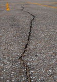 Crack in the pavement Royalty Free Stock Images