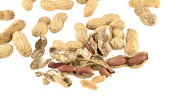 Crack peanuts Stock Photos