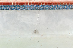Crack in Pool wall Stock Image