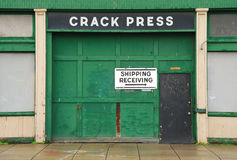 Crack Press Stock Photo