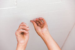 Crack Prevention on Wall Royalty Free Stock Image