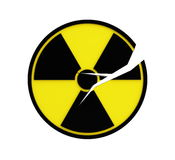 Crack radioactivity sing. Isolated on a white background Royalty Free Stock Images