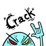Crack rebel Stock Photography