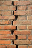 Crack of red brick wall Royalty Free Stock Image