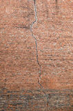 Crack in a red brick wall Royalty Free Stock Photo
