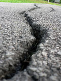 Crack in the Road stock photo